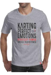 Camiseta Casual Sport Karting Cinza
