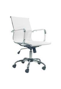 Cadeira Office Byartdesign Esteirinha Charles Eames Pu Branco