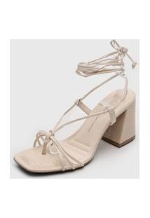 Sandália Dakota Amarração Off-White
