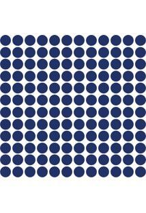 Adesivo De Parede Bolinhas Azul Royal 144Un
