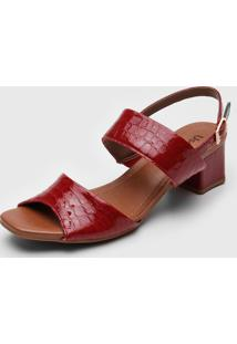Sandália Usaflex Texturizada Vermelha