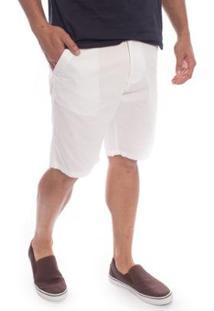 Bermuda Sarja Aleatory Flash Masculina - Masculino-Branco