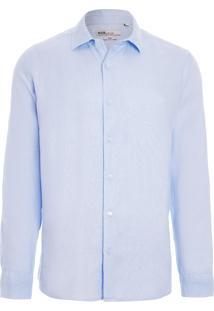 Camisa Masculina Slim Manchester - Azul