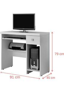 Escrivaninha/Mesa Para Computador System Valdemóveis -Castanho