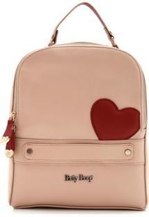 Bolsa Betty Boop Coração Bege