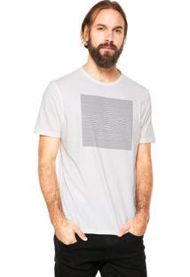 Camiseta Dudalina Estampada Branca