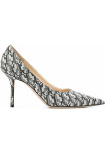 Jimmy Choo Scarpin Love Com Salto 85Mm - Prateado