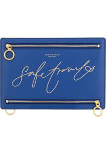 Tory Burch Clutch Safe Travels - Azul