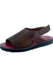 Rasteira S2 Shoes Dora Couro Tabaco