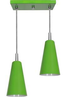 Pendente Cone Mini Tóquio Duplo Verde Attena
