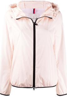 Moncler Lait Short Zipped Jacket - Rosa