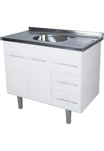 Gabinete De Cozinha Lyon 53X94,4Cm Branco Bonatto