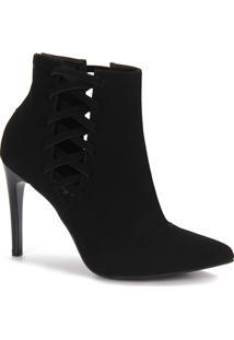 Ankle Boots Feminina Bruna Rocha - Preto