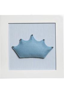 Quadro Decorativo Corôa Potinho De Mel Azul