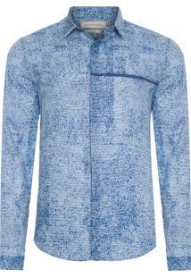 Camisa Masculina Estampa Error - Azul