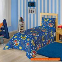 985aa80cea Jogo De Cama Infantil Com 2 Peças Patrulha Canina Ii Algodão Azul
