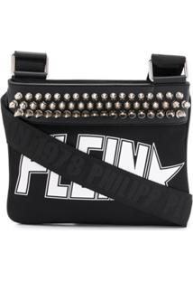 Philipp Plein Studded Logo Shoulder Bag - Preto