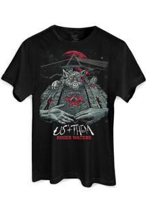 Camiseta Bandup! Roger Waters Pôster - Masculino-Preto