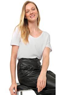 Camiseta Lez A Lez Lisa Branca - Branco - Feminino - Algodã£O - Dafiti