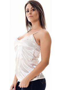 5305beea4d ... Regata Pimenta Rosada Da Renda Isidore - Feminino-Branco