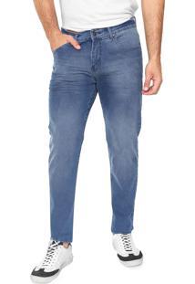 Calça Jeans Aleatory Skinny Estonada Azul