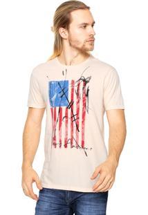 Camiseta Calvin Klein Jeans Estampada Coral