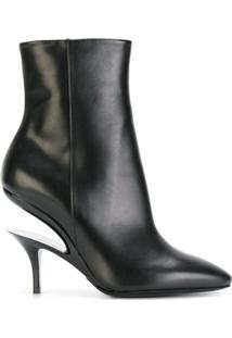 Maison Margiela Ankle Boot De Couro - Preto