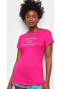 Camiseta Colcci Stay True Feminina - Feminino-Rosa