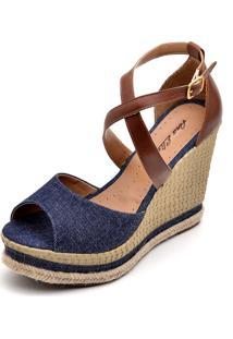 Sandália Dr Shoes Anabela Caramelo - Kanui