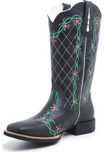 Bota Fidalgo Boots Texana Country Fossil Preto