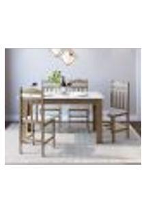 Conjunto De Mesa De Jantar Com 4 Cadeiras Ameixa Negra E Branco Lilies Móveis