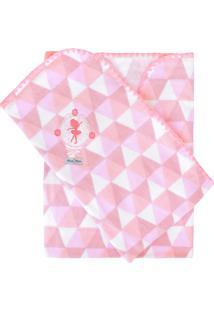 Cobertor Minasrey Bordado Com Caixa Muito Mimo Rosa - Kanui