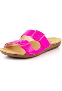 Tamanco Bendito Conforto Birken 2 Fivelas Neon Pink