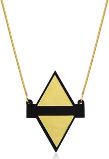 Colar Le Diamond Losango De Acrílico - Kanui
