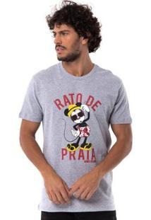 Camiseta Long Island Mouse - Masculino-Cinza