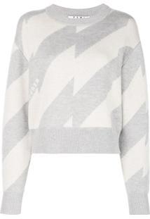 Proenza Schouler Suéter Cropped Listrado - Branco