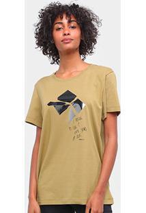 Camiseta Forum Estampada Manga Curta Feminina - Feminino-Verde Escuro