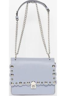 Bolsa Com Spikes - Azul Claro - 18X23X5,5Cmgriffazzi