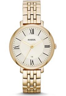 026bb5a7eb9 ... Relógio Fossil Feminino Jacqueline - Es3434 4Xn Es3434 4Xn - Feminino -Dourado