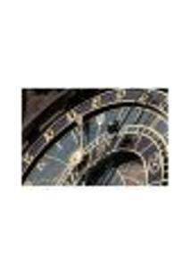 Painel Adesivo De Parede - Relógio Astronômico - 012Pn-M