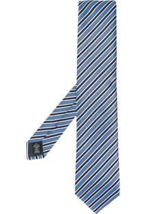 Ermenegildo Zegna Gravata Listrada - Azul