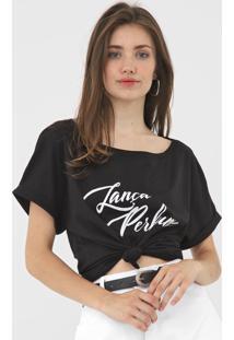 Camiseta Lança Perfume Lettering Preta - Kanui