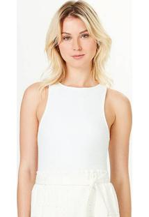 Body Feminino Em Malha Texturizada Com Elastano