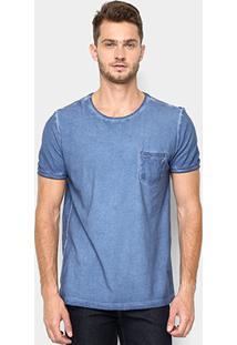 Camiseta Kohmar Flame Com Bolso Masculina - Masculino-Marinho