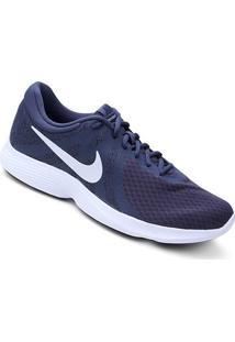 Tênis Nike Revolution 4 Masculino - Masculino-Azul+Chumbo