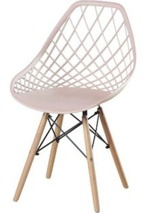 Cadeira Frank Nude Base Madeira - 50070 - Sun House