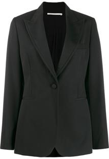 Stella Mccartney Blazer Slim Com Abotoamento Simples - Preto