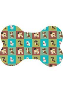 Tapete Love Decor Wevans Pet Dogs Quadriculados Colorido