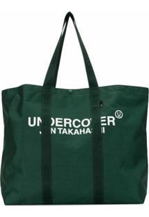 Undercover Bolsa Tote Grande Com Estampa De Logo - Verde