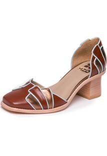 Sapato Mzq Havana Bronze Azul Ceu- Lynda Carter 9304